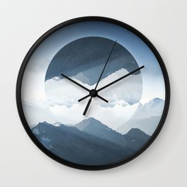 High mountain in morning time Wall Clock