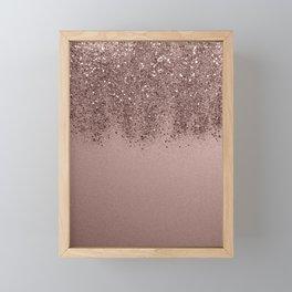 Sparkling Rose Gold Blush Glitter #3 (Photography) #shiny #decor #art #society6 Framed Mini Art Print