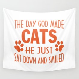 GOD MADE CATS Wall Tapestry