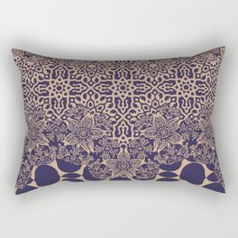 floral border with geo mix monochrome Rectangular Pillow