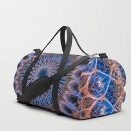 Pretty mandala in blue and orange Duffle Bag
