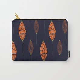Abstract Floral Pattern Carry-All Pouch