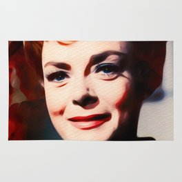 June Lockhart, Vintage Actress Rug