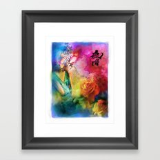 Geisha Rose Framed Art Print
