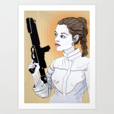Bespin Leia Art Print