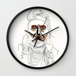 Chief with Lettering Wall Clock