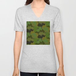 Camo-licious Collection: Gorgeous Green Camouflage Pattern Unisex V-Neck