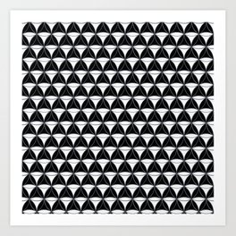 Cone Pattern White Black Art Print