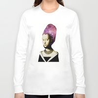 hat Long Sleeve T-shirts featuring Space Hat by EclipseLio