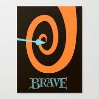 be brave Canvas Prints featuring Brave by Citron Vert