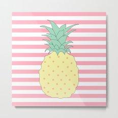 Pineapple Stories Metal Print