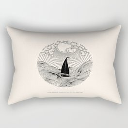 IN THE WAVES OF CHANGE WE FIND OUR TRUE DIRECTION Rectangular Pillow