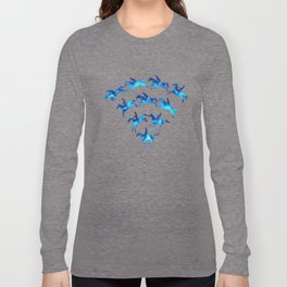 Connected to Showjumping (Blue) Long Sleeve T-shirt