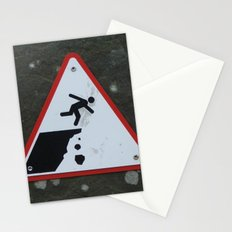 Caution Sign, Cliffs of Mohr Stationery Cards