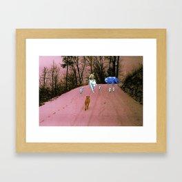San, Moro no kimi & the kodama spirits (princess mononoke) (Burnsville NC) Framed Art Print