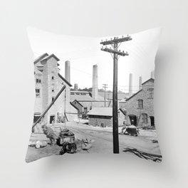 Lake Linden, Michigan 1900 Throw Pillow