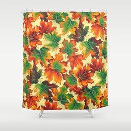 Autumn maple leaves I Shower Curtain