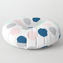 Minimal painted dots gender neutral home decor minimalist nursery baby polka dots Floor Pillow