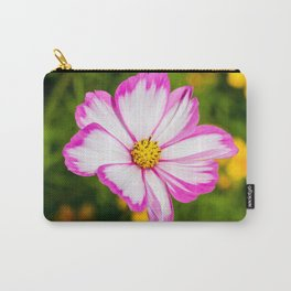 Cosmos Candy Stripe Flower Carry-All Pouch