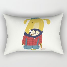 Rugged Roger - the lumberjack Rectangular Pillow