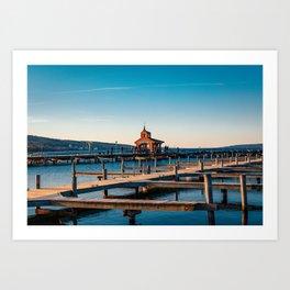 Seneca Lake Pier - Watkins Glen, New York Art Print