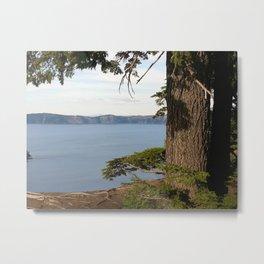 Peeking at Crater Lake Metal Print