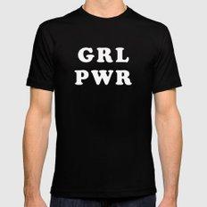 GRL PWR Mens Fitted Tee MEDIUM Black