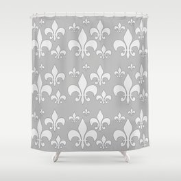 Fleur de lis gray Shower Curtain