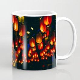 ORANGE PAPER LANTERNS DURING NIGHT TIME Coffee Mug