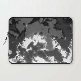 Splattered Black and White Tie Dye Laptop Sleeve