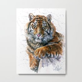 Tiger watercolor Metal Print