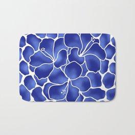 Hibiscus Animal: China Blue Bath Mat