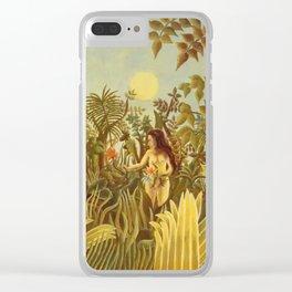"Henri Rousseau "" Eve in the Garden of Eden"", 1906-1910 Clear iPhone Case"