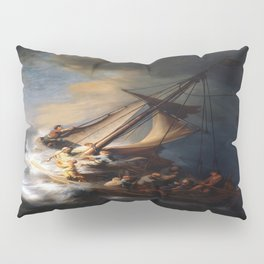 Rembrandt's The Storm on the Sea of Galilee Pillow Sham