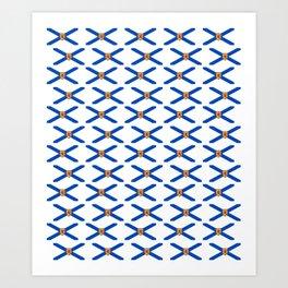flag of nova scotia- nova scotian,bluenoser,halifax,cape breton,nueva escocia,nouvelle écosse. Art Print
