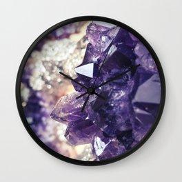 Crystal gemstone - ultra violet Wall Clock