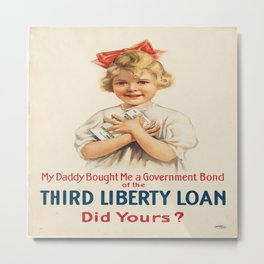Vintage poster - Third Liberty Loan Metal Print