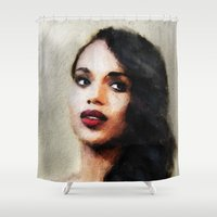 scandal Shower Curtains featuring Kerry by André Joseph Martin