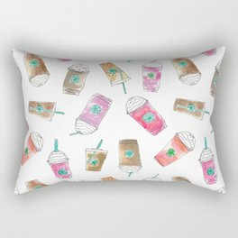 Coffee Crazy Toss in White Cream Rectangular Pillow