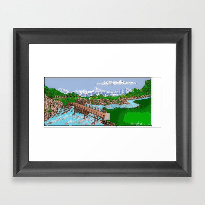 Golf Course Framed Art Print by dlgallery | Society6