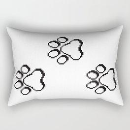 Pixel paw pads! Rectangular Pillow