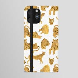 Tiger Lion Cheetah iPhone Wallet Case