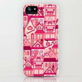 Pink Little Town iPhone Case