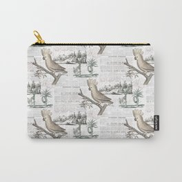 Paris Cockatoo Toile Carry-All Pouch