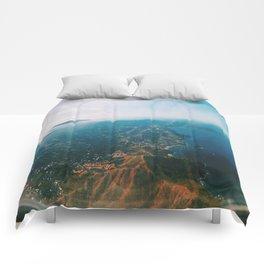 Flying Over Costa Rica Comforters