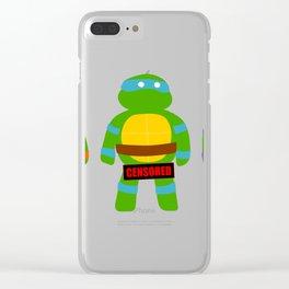 Naughty Ninja Turtles Clear iPhone Case