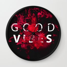 Good Vibes #buyart #lifestyle Wall Clock