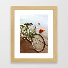MINTY BIKE Framed Art Print