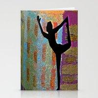 yoga Stationery Cards featuring Yoga by Vicki Lynn Rae