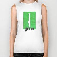 jedi Biker Tanks featuring Vintage Jedi by Fletcher McKinney